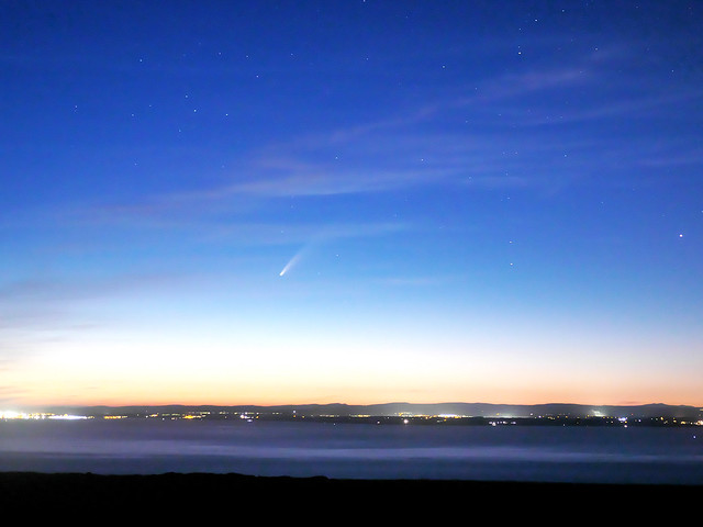 Comet Neowise over the Bristol channel