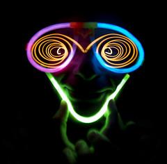 Glow sticks face