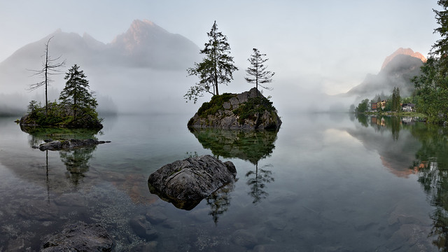A Misty Dream - Sunrise at Lake Hintersee, Ramsau - Bavaria