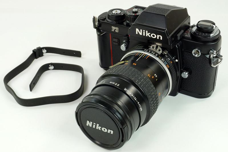 RD30690 Nikon F3 35mm SLR Film Camera with Nikon Micro NIKKOR 55mm 1_2.8 DSC09104