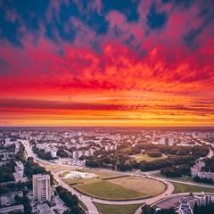 Burning sky | Kaunas aerial #193/365