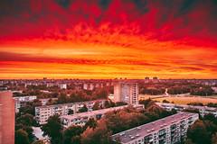 Burning sky | Kaunas aerial