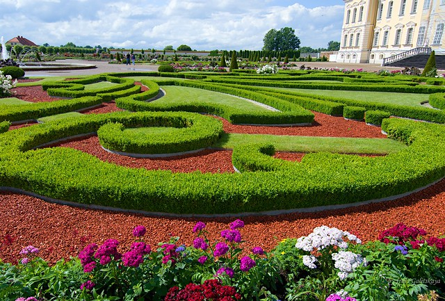 In the French Garden of the Rundāle Palace