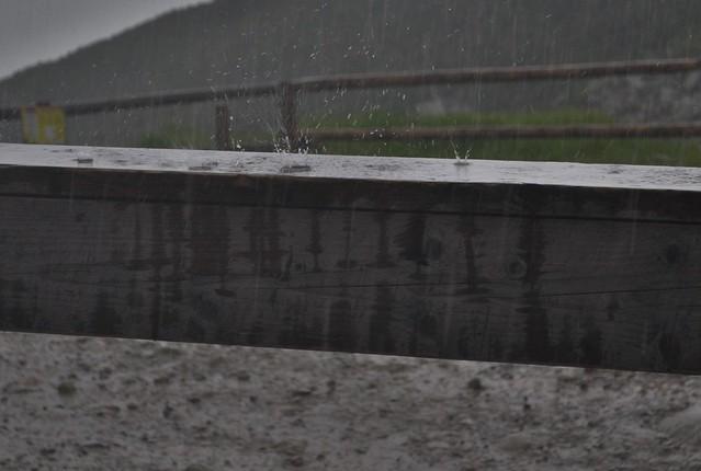 Raindrops keep fallin'....
