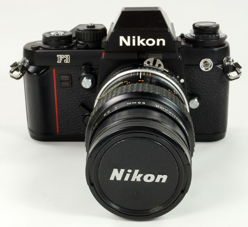 RD30690 Nikon F3 35mm SLR Film Camera with Nikon Micro NIKKOR 55mm 1_2.8 Lens DSC09090