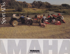 1989 Yamaha Warrior, Blaster, and Banshee Brochure Page 1