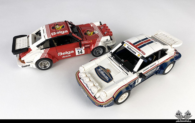 Porsche 911 SC/RS in Lego 1:14
