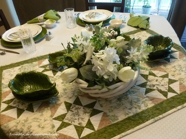 Summer Green Tablescape
