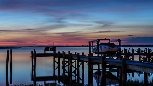 brigantine newjersey jerseyshore longexposure dock sunrise