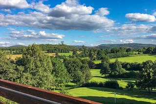 Aussicht vom Zimmerbalkon im Hotel Klaholz