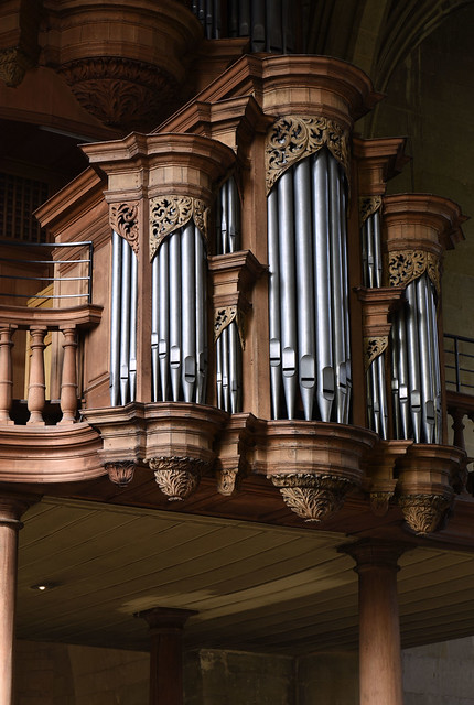 Nottuln, Westfalen, Stifts- und Pfarrkirche St. Martinus, organ case, Rückpositiv, detail