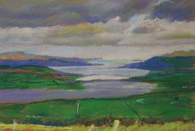 Loch Swilly, Donegal. Ireland. Pastel