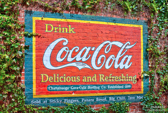 Drink Coca-Cola mural - Chattanooga, Tennessee