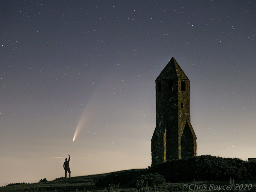 Comet Neowise at the Pepperpot, Isle of Wight - P7120434