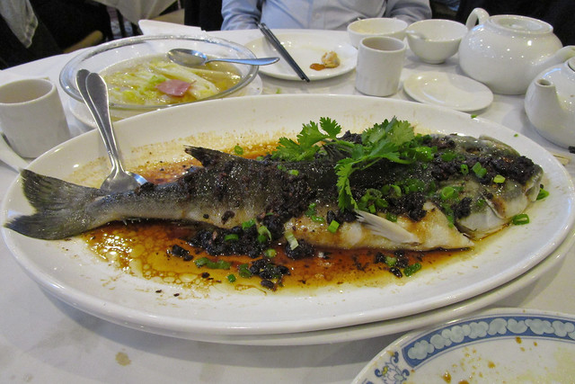 35z28 Fish Entrée - Steamed black cod with black bean sauce (Vancouver, Canada)