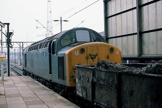 40012 AUREOL at Crewe station 20-2-1983