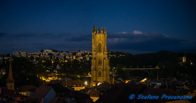 Fribourg in the blue hour