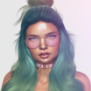 NEW ITEM - Retro Round Glasses | by lingserenity