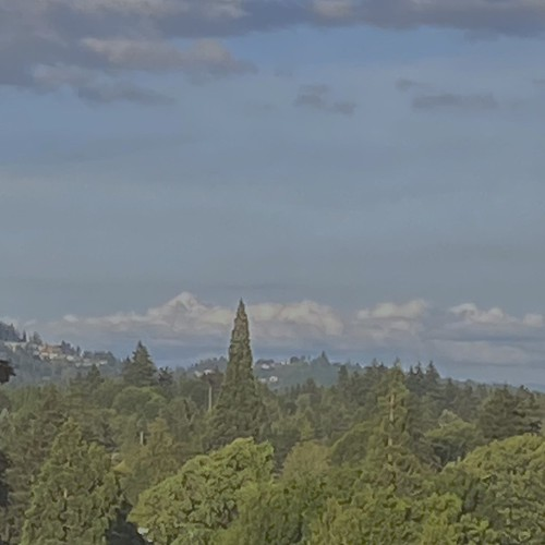 Mount Hood tries to hide among the clouds