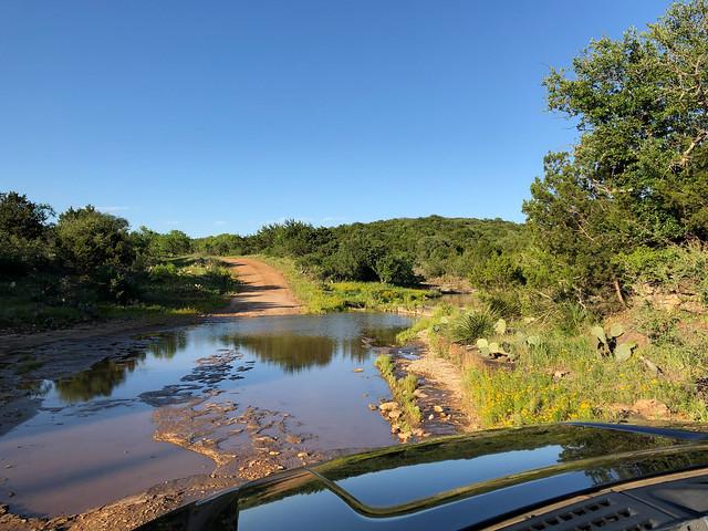 Texas backroads - Crossing a creek in Mason County
