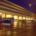 Preston Bus Station at night