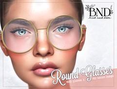 Retro Round Glasses - 5l$