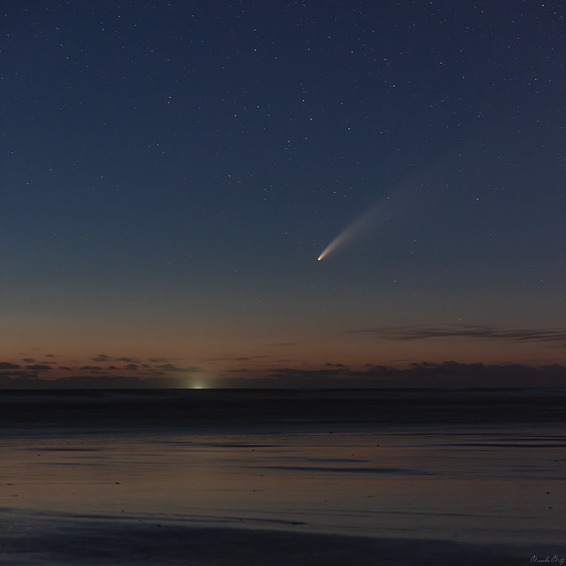 Comet Neowise on the Oregon coast