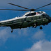 Marine One departs on the way to Walter Reed