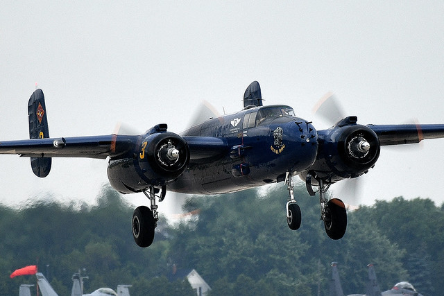 North-American B-25 Mitchell bomber N9643C 44-86758 USAF