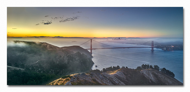 First Light over the SF Bay