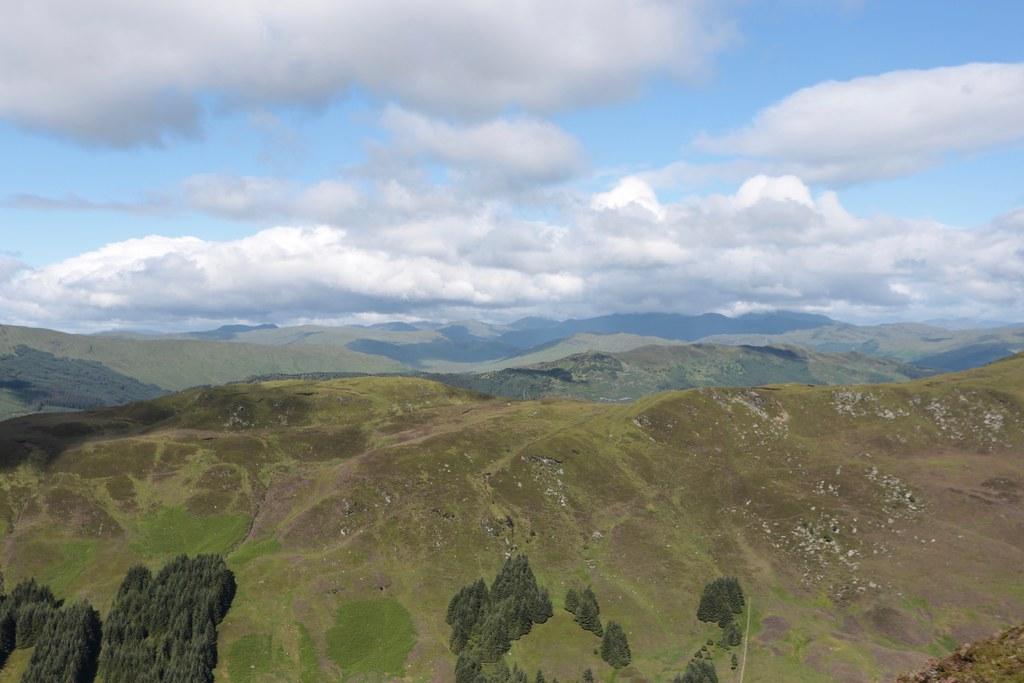 Cloud over the Crianlarich hills