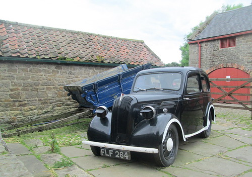 Car with Blackout Headlamps, 1940s Farm, Beamish