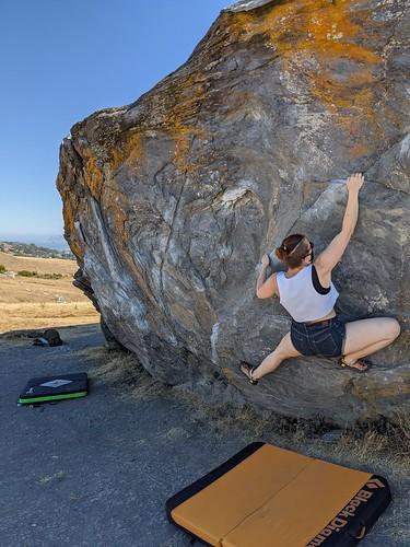 Climbing at Ring Mountain