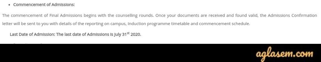 Sri Sri University Admission 2020 Last Date