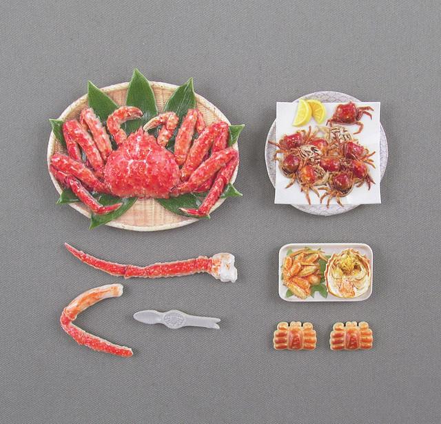 豪華痛風螃蟹餐第四彈!M.I.C.『模型飯(フィギュアのごはん)Vol.4』1/12比例塗裝完成組裝模型