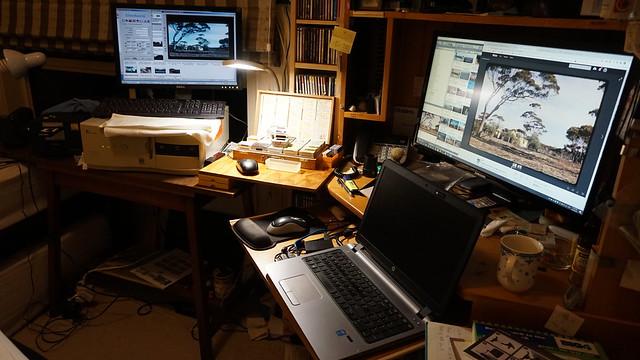 workstation for scanning my old slides