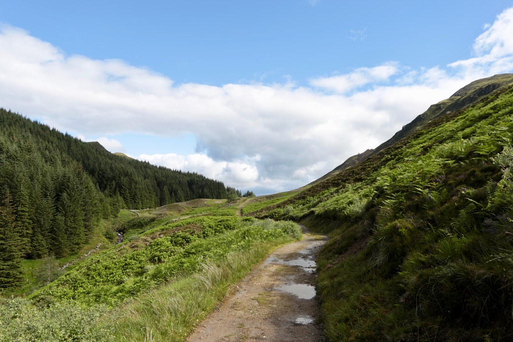 The track to Glen Ample