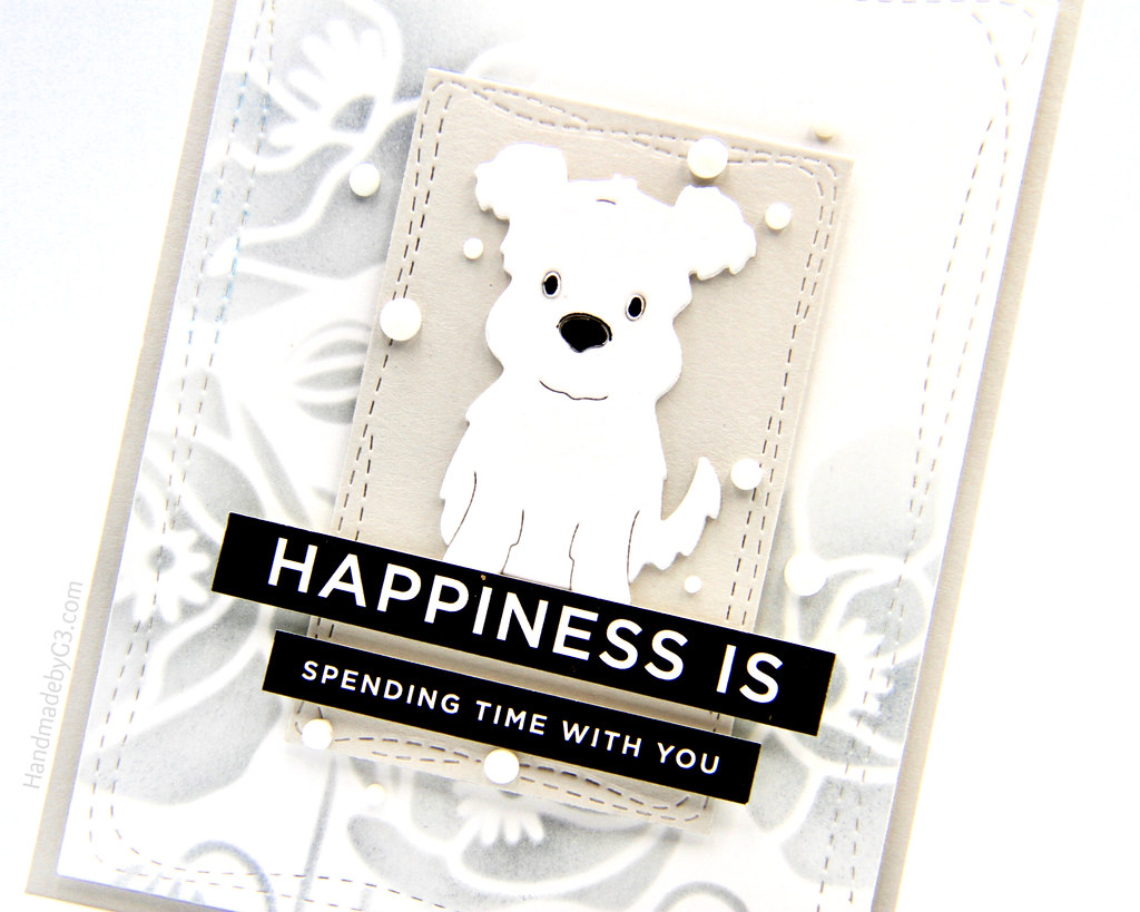 Happiness is card closeup