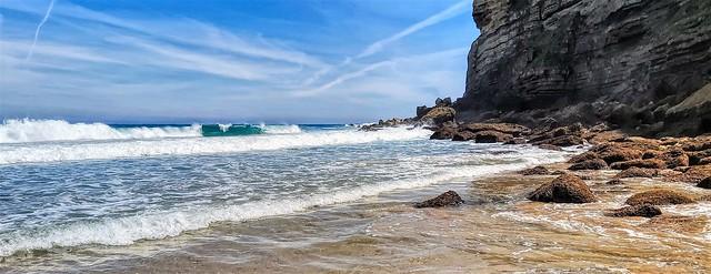 Rincón Este de la playa de Luaña. Cantabria.