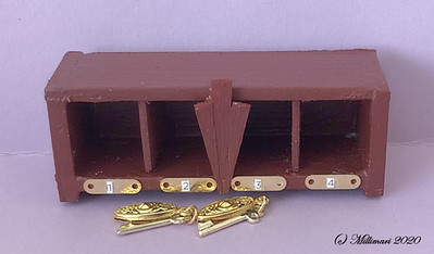 Valmis avainlokerikko - The finished key & mail locker