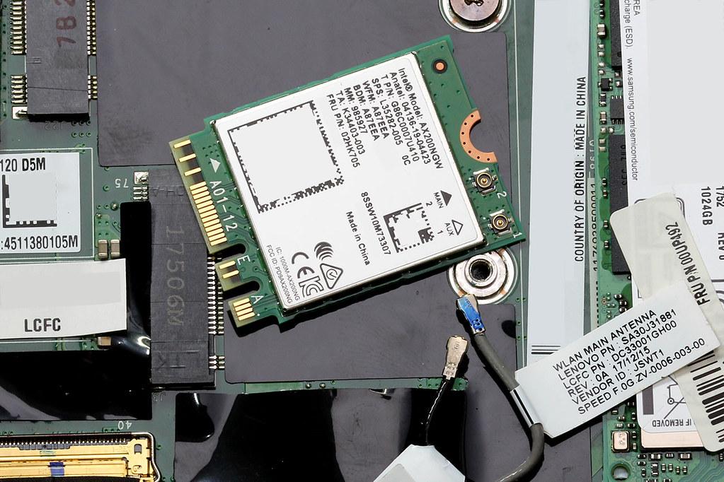 installing the Intel AX200NGW WiFi 6 card
