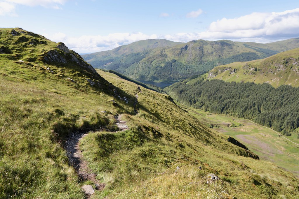 The path above Glen Ample