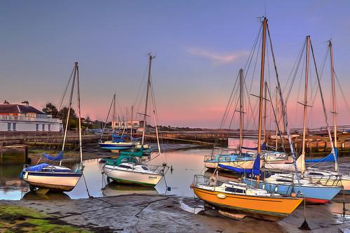 landscape hdr photomatix boats sunset hillheadmarina meonshore stubbington hampshire uk canon eos7dmkii efs1018isstm
