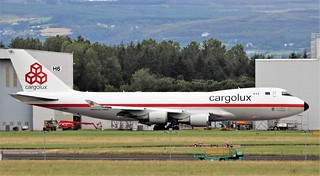 cargolux b747-4evf(er) lx-ncl after painting into retro livery by iac in shannon 13/7/20. | by FQ350BB (brian buckley)