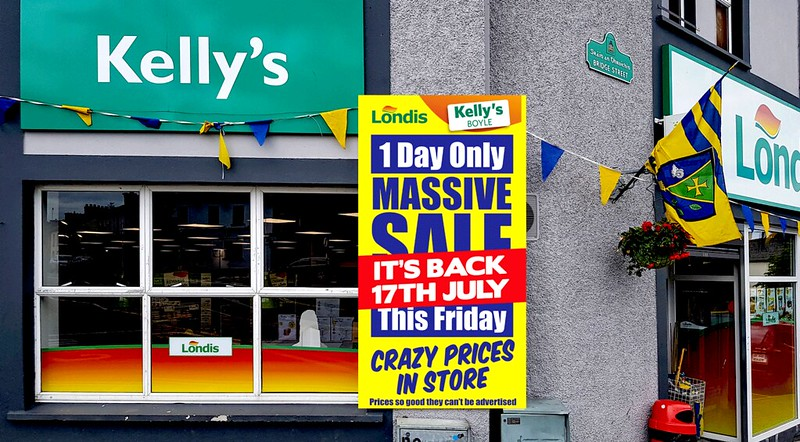 Kelly's Londis Massive One Day Sale