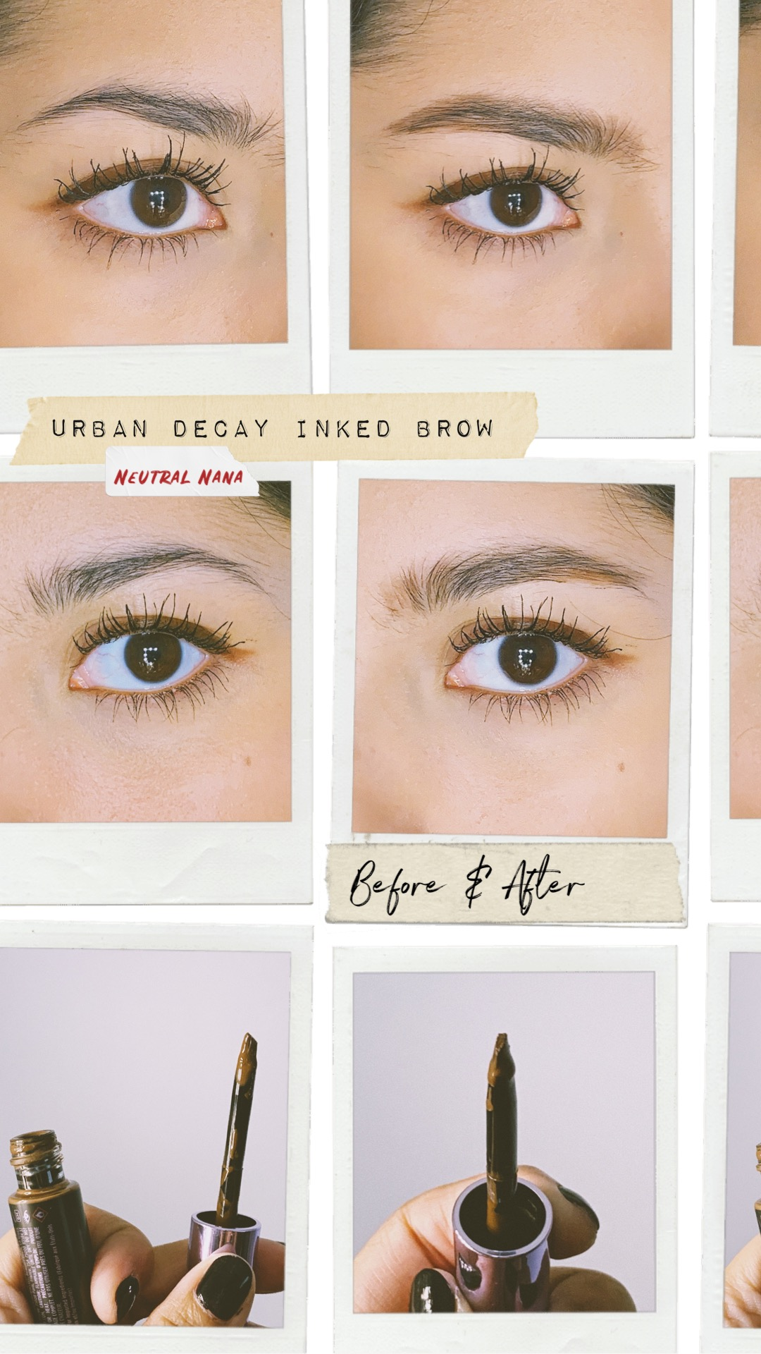 urban decay inked brow neutral nana before and after