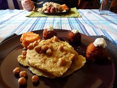 Doubles, Bajan fishcakes, and coleslaw from Big Mike's Calypso Kitchen, Croydon, London CR0