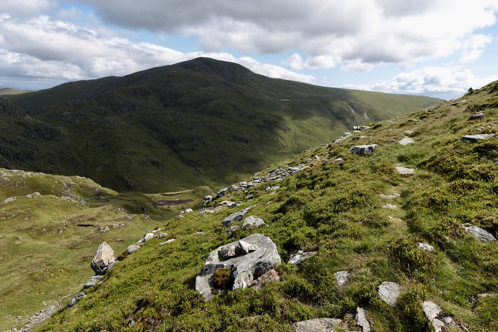 Descent north from Beinn Each