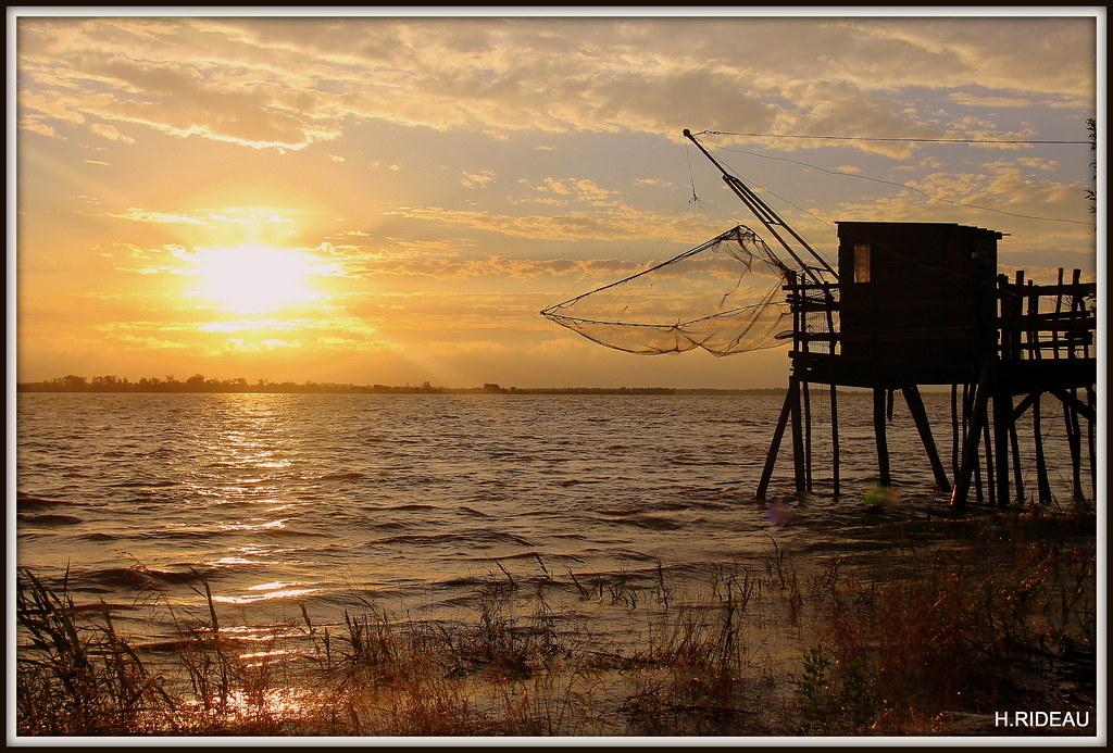 Soir d'été sur l'estuaire de la Gironde.