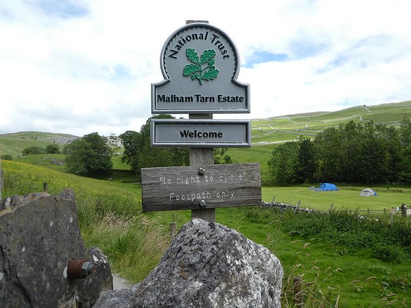 National Trust sign, Malham Tarn Estate